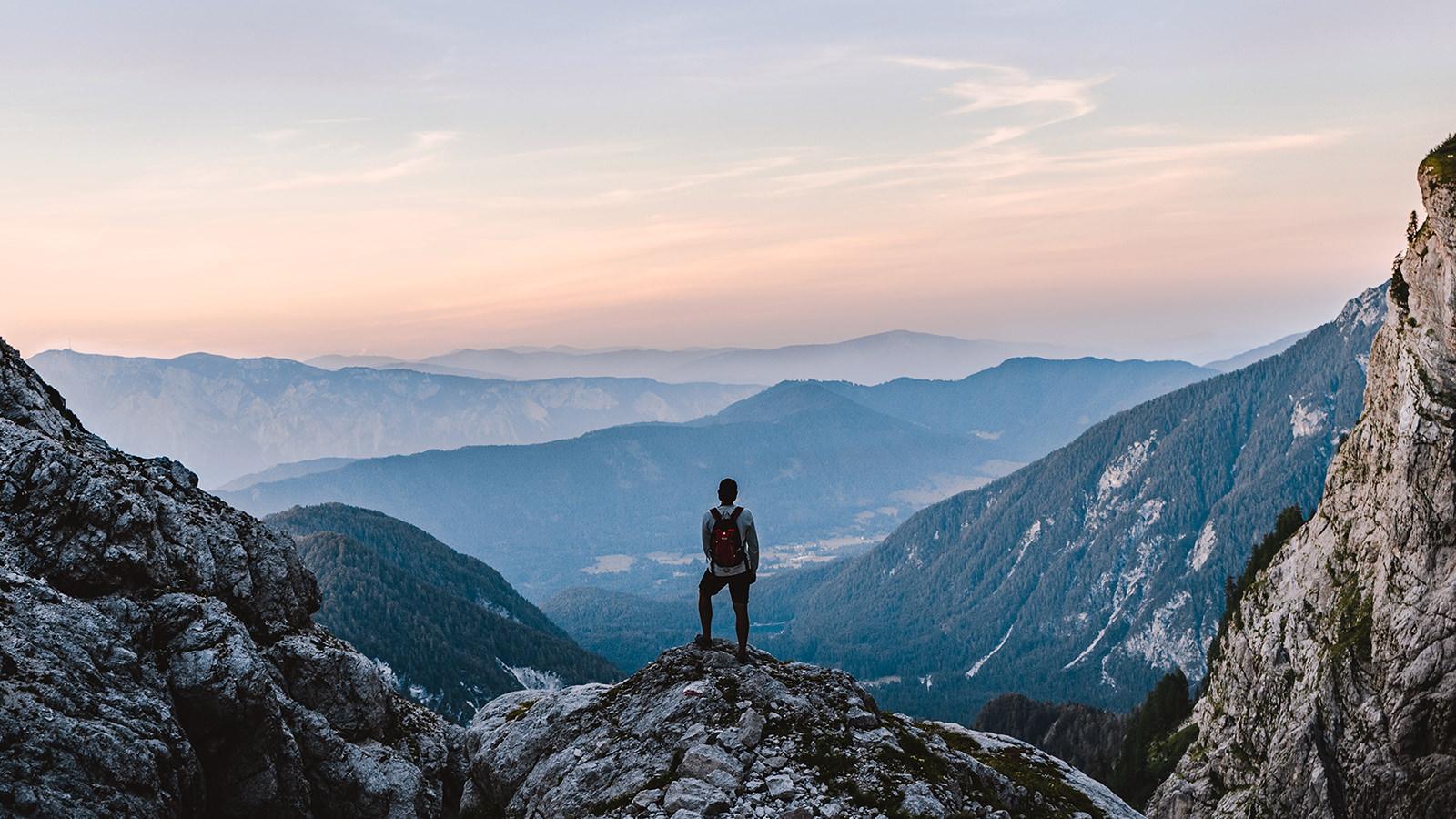 Das Bild in seiner düsteren Art zeigt einen Menschen, der von oben herab auf die Welt schaut, seinen Gedanken nachhängt, Antwort sucht und aus der Weite trinkt