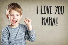 Portrait, Junge, Stift, Muttertag, I love you mama